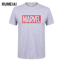 Wholesale superhero t shirts for sale - Group buy New Fashion Marvel Short Sleeve T shirt Men Superhero print t shirt O neck comic Marvel shirts tops men clothes Tee SN6