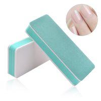 esponja para pulir las uñas al por mayor-Esmalte de uñas Buffer Spong Dead Skin removedor esponja de lijado Pulido lima de uñas polaco Herramientas de uñas de manicura cuidado de la herramienta RRA1319