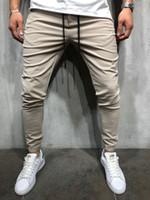 Wholesale designer clothes men trousers resale online - Designer Pants Men Hip Hop Pants For Clothing Autumn Spring Solid Black Khaki Slim Fit Trousers Pants