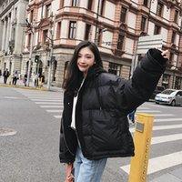 casacos de mulheres de moda de inverno coreano venda por atacado-Tops Brasão Mulheres Grosso Quente Moda Inverno Parkas Patchwork Coats New coreano Casual Feminino Casacos com capuz de rua