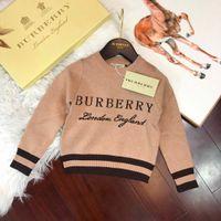 Wholesale boys child garments resale online - designer luxury Winter Sweaters For Children Dresses Clothing Boys Pullover Hoodies Autumn Sweater Children s Garment Knitting