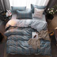 Wholesale super king size bedding sets resale online - 55 modern bedding set Super king size bed linens reactive printing duvet cover set pastoral style home bed flat sheet