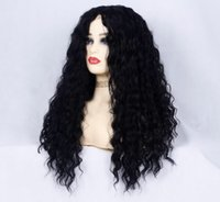 Wholesale jerry lace wig resale online - Jerry Curly Wig Peruvian Lace Front Human Hair Wigs With Baby Hair Water wave Lace Front Wig Remy Hair Pre Plucked Bleached Knots