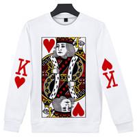 boutique en toile à imprimé 3d achat en gros de-Drop Shopping JQK Poker 3D Print Slim Fashion Col rond à manches longues O-cou Sweat-Shirt Chaud Tendance Casual Pull à Col Rond