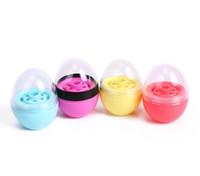 batom ovo venda por atacado-Novo estilo ovo forma vazia LIP BALM Recipientes batom moda legal lábio esférico Recipientes recipiente circular