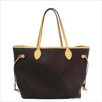 nylon einkaufstaschen großhandel-NIE VOLL Designer-Handtaschen aus echtem Leder Totes Composite-Handtasche Mode Composite-Totes große Kapazität einkaufen Designer-Taschen
