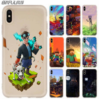 Wholesale luxury gold wallpaper resale online - minecraft wallpaper Phone Cases luxury Silicone soft Cover for iPhone XI R X XS Max XR S Plus S SE Coque