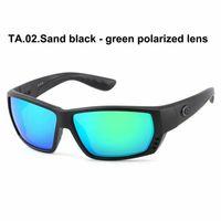 blaue sonnenbrille für frauen großhandel-580P Tuna Alley Sonnenbrille Polarized Women Mirrored Sonnenbrille UV400 Square Frame TR90 Brillen Blue Green Gläser