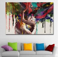ingrosso vernice astratta di coppia-ART Poster Stampe Wall Art Canvas Painting Abstract Couple Huging Wall Pictures For Living Room Decorazione da parete Più stili