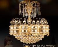 Wholesale crystal lightings for sale - Group buy European American style crystal chandeliers lights led pendant lamps hotel dinning room bedroom new pendant chandelier lightings MYY