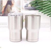 isolierung für autos großhandel-Edelstahl 14OZ doppelwandige Isolierung Vakuum Wasser Kaffeetassen nach Hause im Freien Autotassen mit Deckel Kind Cup