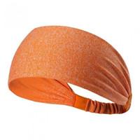 elastik şeritler toptan satış-Yüksek elastik spor bandı koşu çabuk kuruyan hairband spor Bandı Streç Geniş Yoga Spor Aksesuar Geometrik Şeritler