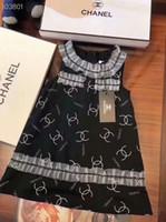 organza-stil kleider großhandel-Sommer-Mädchen-Spitzenbaumwollkleid-Art- und Weisebrief-Kleid-Mädchen-Art- und Weisetrend-Kurzschluss-Hülsen-Großhandelst-shirt Kinder
