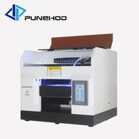 Wholesale metal glass printers resale online - A4 small size uv printer for acrylic metal glass wood plastic mobile phone shell printing