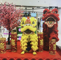 Lion Dance Wool Costume Double Color Outfit China Southern Hongkong Macao Foshan Hand Made Stage Accessories Lion Dance For Oversea Chinese