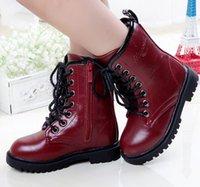 warm wasserdichte schwarze stiefeletten großhandel-Junge Mädchen Stiefel Mode Kinderwinterstiefel Schuhe wasserdicht warme Stiefel Ankle für Kinder Weiblichen Schnee-Pelz-Schwarz Baumwolle