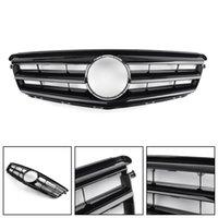 Wholesale benz car parts for sale - Group buy Areyourshop Black Front Bumper Grille For Benz C Class W204 W LED Emblem C300 C350 Car Accessories Parts