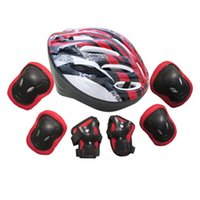 Wholesale wrist roller for sale - Group buy cycling helmet knee elbow protect pad cycling protection set adults bike roller knee elbow wrist helmet pad protect B2