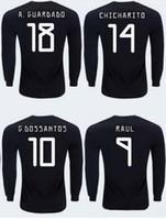 Wholesale soccer jerseys mexico resale online - 19 Mexico home Customized Thai Quality long sleeve J Hernandez Soccer Jerseys shirts CARLOS V J Hernandez H HERRERA wear