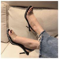 Wholesale fashion nova dresses resale online - Nova crystal embellished sandal sexy women sandals slingback high heels dress shoes size to