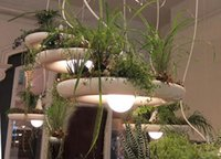 Wholesale indoor plant lights for sale - Group buy Creative Plant DIY Nordic Pendant Lamp E27 Led White Aluminum Suspension Light Bedroom Dining Room Indoor Home Lighting