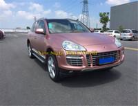carro dourado fosco venda por atacado-Alta Qualidade Matte Satin Chrome Rose Gold Car Vinyl Wrapping Film Foil Adesivo Air Bubble Livre