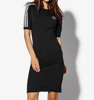 vestido de impressão integral leopardo venda por atacado-Mulheres verão casual dress designer preto e azul escuro em torno do pescoço meia manga vestidos frete grátis