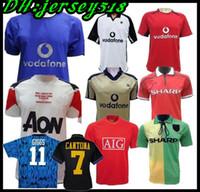 futebol unido venda por atacado-Versão Retro 2001 2002 United Centenary 100 CANTONA Futebol jersey v.NISTELROOY futebol Giggs SCHOLES BEKHAM RONALDO 98 99 Manchester 2008