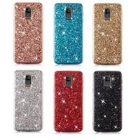 parıltılı payet kristali toptan satış-Telefon Kılıfı için Samsung Galaxy S9 Artı Durumda Bling Glitter Kristal Sequins Yumuşak TPU Kapak Fundas Samsung S9 Artı S9