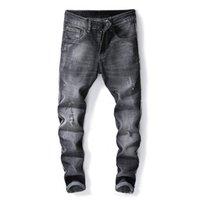 städtischen stil hose großhandel-Herren Designer Bleistift Jeans Slim Fit Elastic New Style Lässig Gerade Freizeit Regular Urban Wind Pants