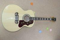 Wholesale acoustic electric guitar free resale online - Custom Shop Hot Selling Dot Spruce Beige SJ200 Strings Electric Acoustic Guitar With Fisherman Pickups