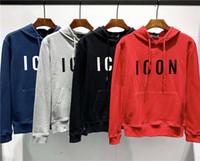 en kaliteli giysiler toptan satış-DSQUARED2 DSQ2 D2 2019 FW Yeni Varış En Kaliteli Marka Tasarımcısı erkek Giyim Sokak Hoodies Uzun Kollu Tişörtü M-3XL DS273