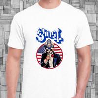 bc branco venda por atacado-Logotipo da faixa de metal da bandeira do fantasma BC EUA EUA novo t-shirt branco