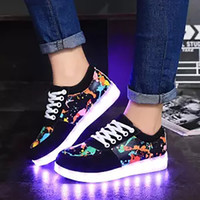 ingrosso scarpe di neon glow-LED Shoes for Men Sneakers incandescente Glitter Outdoor Scarpe Mens Casual Led luminoso ricarica USB Neon Zapatillas Hombre