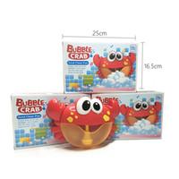 jabones de baño de burbujas al por mayor-2018 recién llegado Bubble Crabs Baby Bath Toy Funny Bath Bubble Maker Piscina Piscina Bañera Máquina de jabón Juguetes para niños Kids C5635