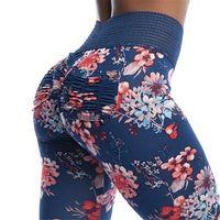 ingrosso donne leggins-Calzamaglia Sportswear Donna Gym Leggins Sport Donna Fitness Abbigliamento sportivo per pantaloni Yoga Vita alta Booty Push Up Scrunch Leggings