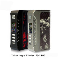 Wholesale think vape finder for sale - Group buy Original Think vape Finder C W box mod Thinkvape box mod Dual battery Evolve DNA75C Colors DHL
