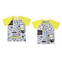 roupa de maçã venda por atacado-Crianças Geométrica Raglan T-shirt Dos Desenhos Animados Apple Impresso Esportes Casuais de Manga Curta Tops de Volta Para A Escola Dos Miúdos Roupas de Grife Garotas Roupas de Menino