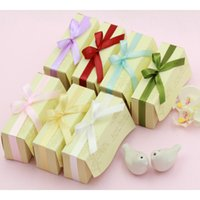 Wholesale giveaways sets for sale - Group buy 2PCS Set Mini Love bird salt and pepper Shaker Party Wedding Favor Gift Giveaway Present Romantic Wedding Door Gifts with gift box