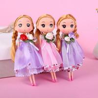 juguete de los niños más pequeños al por mayor-Bolso de muñeca de juguete confuso de encaje colgante muñeca atrapada para niños y niñas colgante pequeño regalo de niños juguetes para niños