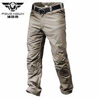 ingrosso stile militare di jogger-Pantaloni tattici impermeabili estivi Pantaloni maschili casual da uomo Jogger Casual Pantaloni in cotone stile Army Black Man Pant Casual