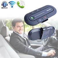tragbares auto video großhandel-Drahtloser Adapter Bluetooth Freisprecheinrichtung Visier Clip Auto Mikrofon Fall Portable Audio Video für iPhone Samsung Android