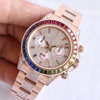 Wholesale luminous rainbow for sale - Group buy AR Luxury mens Watches rose gold Luxury watch Rainbow circle Automatic mechanical watch with timing Hunction of montre de luxe