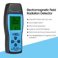 dozimetre test cihazı toptan satış-El Mini Dijital LCD EMF Test Elektromanyetik Alan Radyasyon Dedektörü Metre Dozimetre Test Sayacı
