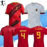 Wholesale size xxxl soccer jerseys resale online - SIZE S XL19 Belgium European Cup soccer jersey camisetas national E HAZARD R LUKAKU DE BRUYNE maillot de foot football shirt