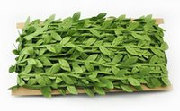 Wholesale artificial greens garlands resale online - Simulation leaf leaves green vines garland decoration accessories clothy green leaves rattan leaves artificial flowers EEA403
