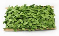 künstliche blattdekorationen großhandel-Simulationsblatt lässt grüne Reben Girlandendekorationszusätze tuchartiges Grün verlässt Rattan verlässt künstliche Blumen EEA403