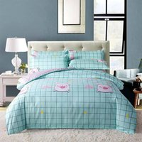 Wholesale cute twin bedding sets for sale - Group buy Cartoon Rabbit Bedding Set Single Cute Fashionable High End Duvet Cover Grid King Queen Twin Full Comfortable Bed Cover with Pillowcase