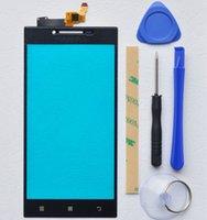 lenovo touchscreen glas ersatz großhandel-BINYEAE 5.0''Touch Screen Für Lenovo P70 Digitizer Touch Panel Glaslinsensensor Kostenlose Tools + Adhesive P70 Ersatzteil