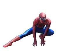 Wholesale red lycra spandex unisex catsuit online – ideas New Spiderman Costume D Printed Kids Adult Lycra Spandex Spider man Costume For Halloween Mascot
